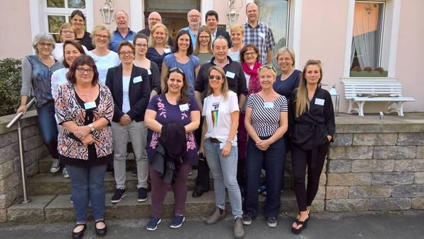 Teilnehmerinnen und Teilnehmer der Fachtagung 2018 mit Frau Dr. Dybowski, MAGS NRW (2.Reihe v. vorne, 2. v.l.)